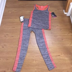 Other - Gray & Orange Workout 🏋️‍♀️ Outfit Size S/M